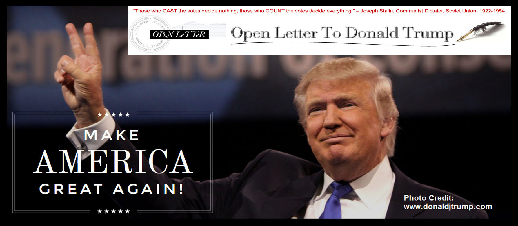 Image result for open letter to trump