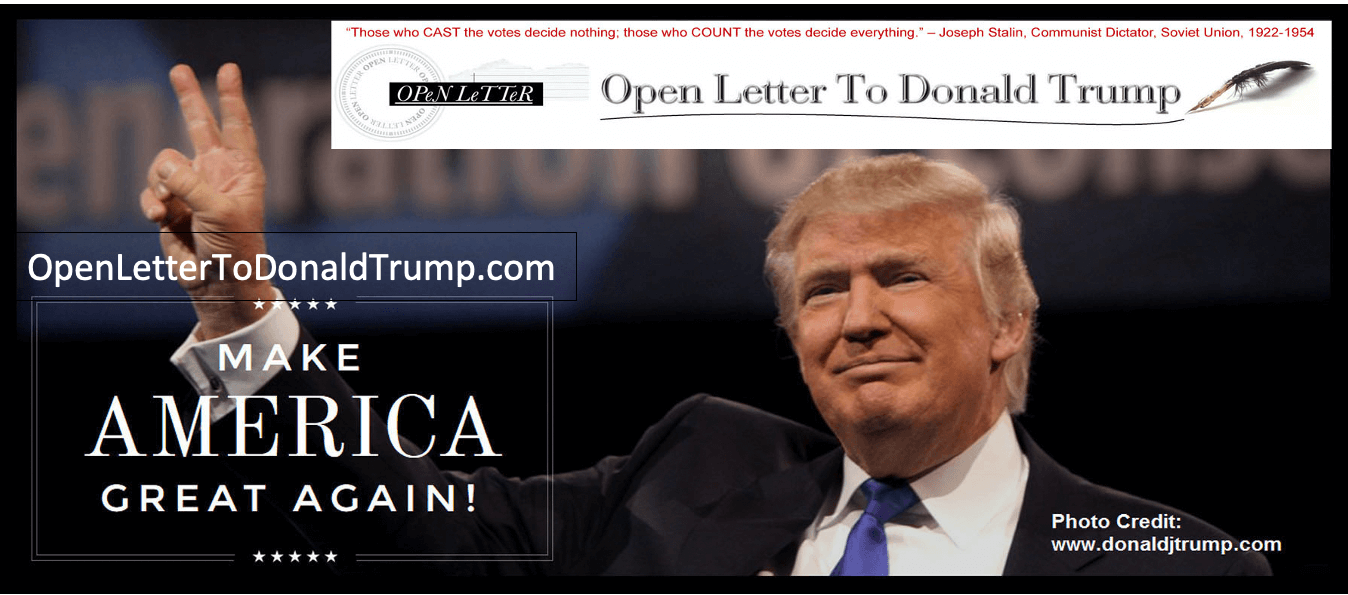 Open Letter To Donald Trump